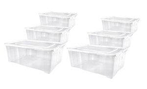 Alpfa Klarsichtboxen 1,7 Liter - 6er-Set