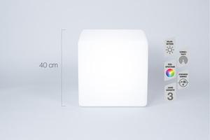 Telefunken RGB-LED Solar-Gartenleuchte Cube Connectivity 40 cm