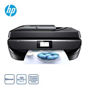 OfficeJet 5220 Drucker · 5,5 cm großer Touchscreen · randloser Drucker, Fotos in Laborqualität · einfaches drucken von mobilen Geräten