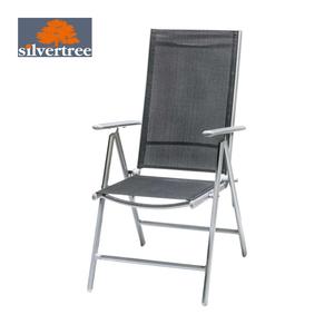 Klappsessel Johannes 7-fach verstellbare Rückenlehne, wetterbeständig, Textilbespannung, pulverbeschichtetes Aluminium/Stahl Gestell