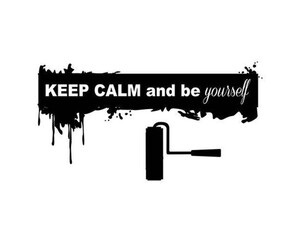 Wandtattoo Keep calm and be yourself