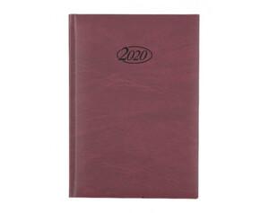 Buchkalender 2020 A5 bordeaux