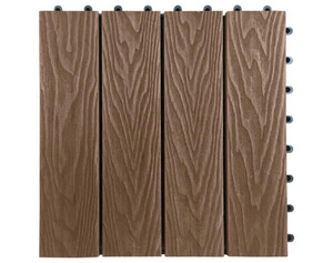WPC-Terrassenfliese 6-er Pack braun ca. 30 x 30 x 2,1 cm
