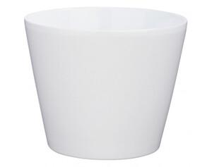 Übertopf weiß matt Höhe ca. 16 cm