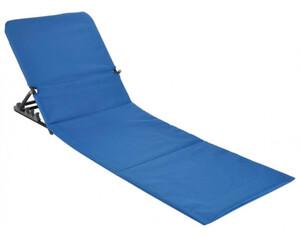 Strandliege klappbar blau