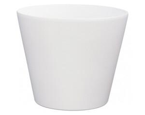 Übertopf weiß matt Höhe ca. 14 cm