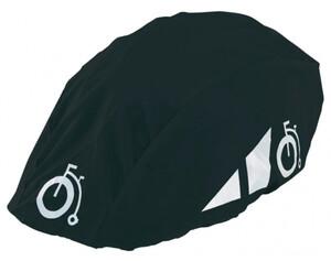 Regenschutz für Fahrradhelm schwarz