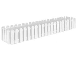 Blumenkasten Landhaus  weiß 100 cm
