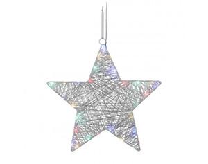 LED-Fensterbeleuchtung Stern ca. 40cm multicolor