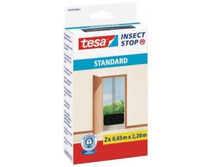 tesa® Fliegengitter für Türen 2 x ca. 0,65 m x 2,20 m anthrazit