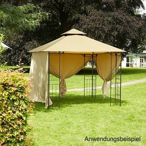Pavillon Genf 300x300x280 cm braun/beige Stahl/Aluminium wasserabweisend