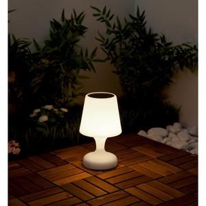 Solar-Tischleuchte Ø 16 x 26,5 cm weiß