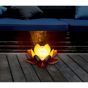Solar-Dekolicht 'Lotusblume' Ø 27 cm