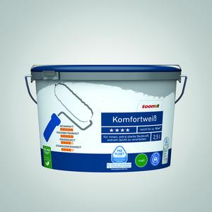 Komfortweiß matt, 2,5 Liter konservierungsmittelfrei