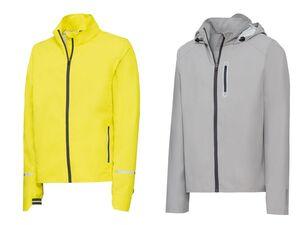 CRIVIT® Windbreaker Herren, für Fahrradfahren, integrierte Packtasche, wind- und wasserdicht