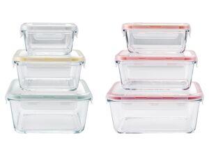 ERNESTO® Frischhaltedosen Set, 3-teilig, Deckel mit Silikondichtung, spülmaschinengeeignet