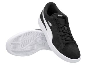 "Puma Sneaker Damen Herren ""Smash V2"" black/white/silver"
