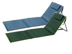 CRIVIT® Campingmatte, mit Rückenlehne, Aufbewahrungstasche, stufenlos verstellbar