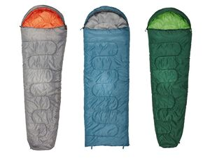 CRIVIT® Schlafsack, mit Reißverschluss, Wärmeleiste, inklusive Kompressions-Packsack