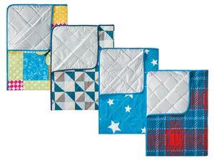 CRIVIT® Picknickdecke, 2 x 2 m, mit Klettverschluss, Schultergurt, Tragegriff