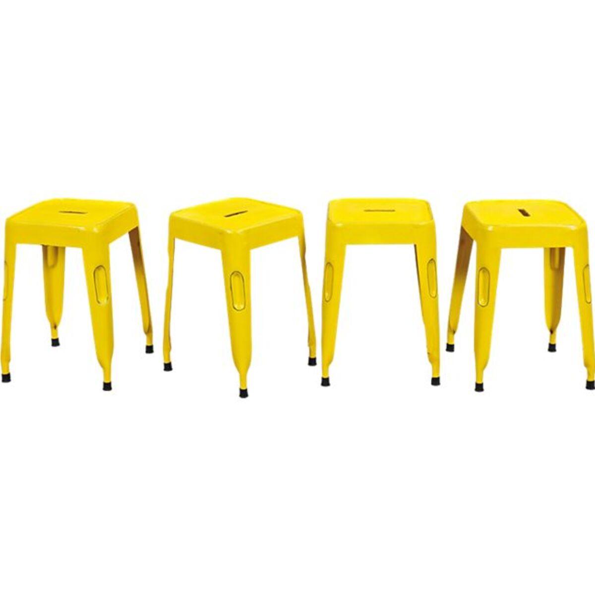 Bild 1 von Inter Link Metallhocker Melange gelb  (VPE: 4 Stk)