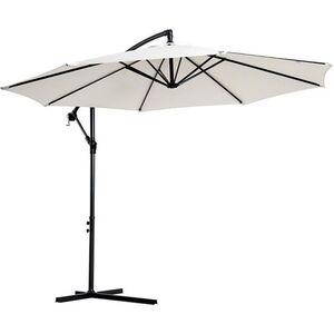 Outsunny Ampelschirm mit Handkurbel 3 x 2,5 m (ØxH)   Sonnenschirm Kurbelschirm Terrassenschirm Schirm