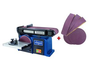 scheppach Band und Tellerschleifer »BTS 900«, Schleifmaschine 370 W, mit Schleifpapier