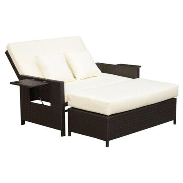 Outsunny Polyrattan Lounge-Sofa mit Kissen