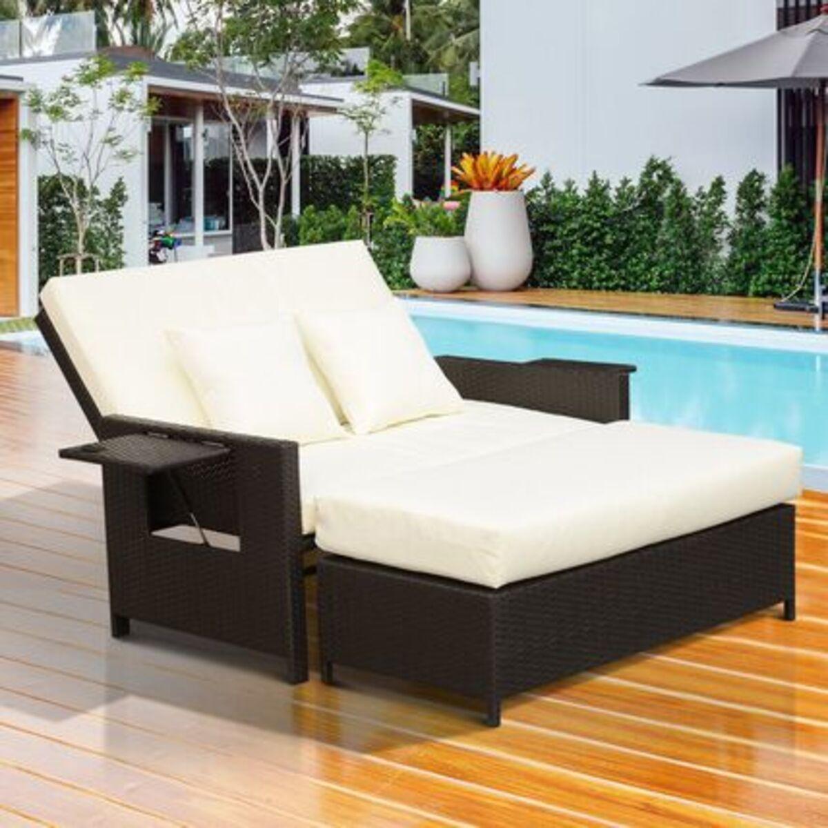 Bild 2 von Outsunny Polyrattan Lounge-Sofa mit Kissen
