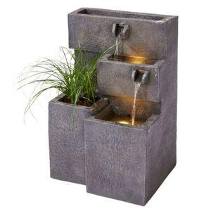 Pureday Outdoor-Brunnen 'Plant', Anthrazit