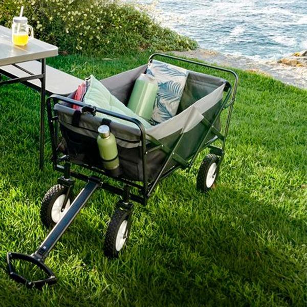 EASYmaxx Klapp-Bollerwagen mit stabiler Stahlkonstruktion, ca. 100x50x61cm