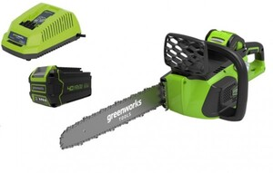 Greenworks Akku-Kettensäge 40 V ,  inkl. 4 Ah Akku und Ladegerät