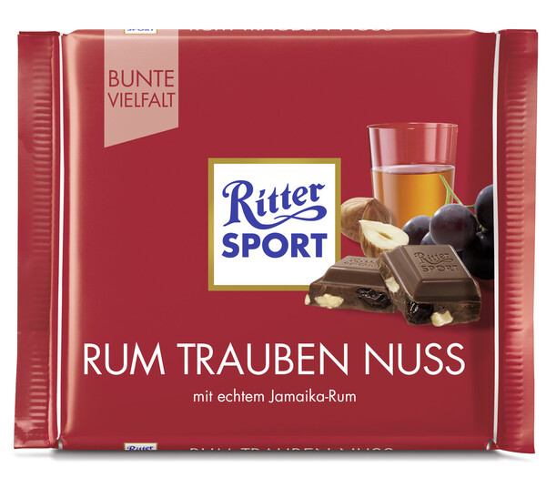Ritter Sport Rum Trauben Nuss 100 g