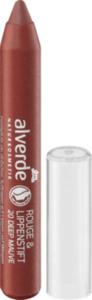alverde NATURKOSMETIK Rouge & Lippenstift 20 Deep Mauve