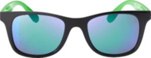SUNDANCE Sonnenbrille für Kinder Schwarz mit grünen Bügeln