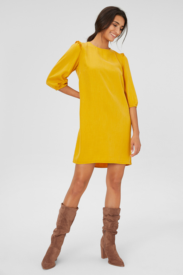 C&A A-Linien Kleid, Braun, Größe: 40 von C&A ansehen!