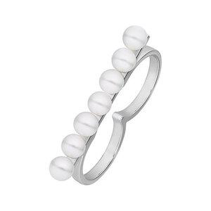 JETTE Silver Damenring Pearl 86776669