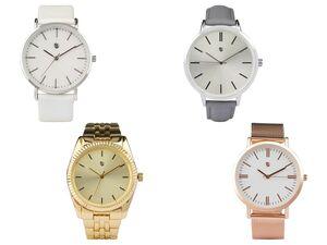 AURIOL® Armbanduhr Damen, mit Quarz-Uhrwerk, Gehäuse aus Metall, wasserdicht bis 5 bar