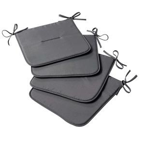 Stuhlplatte mit nützlichen Bindebändern, ca. 38x38cm, 4er Pack
