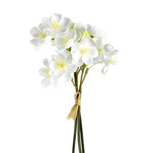 Blumenbündel Kirschblüte, 3 Stück, L:26cm, weiß