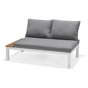 Gartenlounge-Element mit Kissen, 2-Sitzer, 140x76x73cm, grau
