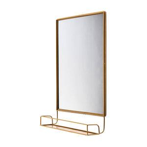 Spiegel mit Ablage, L:35cm x B:14cm x H:58cm, gold