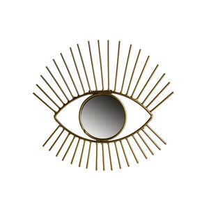 Spiegel Auge, D:24cm, gold