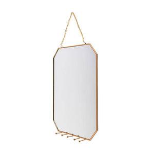 Spiegel mit Haken, L:25cm x B:30cm, gold
