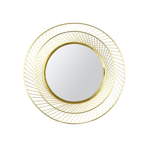 Spiegel, D:58cm, gold