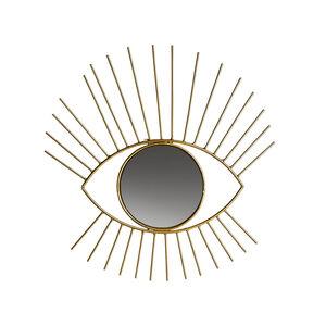Spiegel Auge, D:33cm, gold