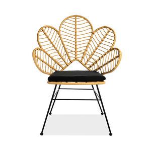 Sessel Lotus mit Sitzkissen, Outdoor, 78x67x99cm, natur