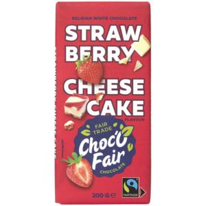 Choc-O-Fair Weiße Schokolade Strawberry Cheesecake