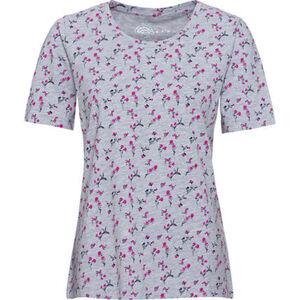 Adagio T-Shirt, Rundhals, Blumen-Print, Organic Baumwolle, für Damen
