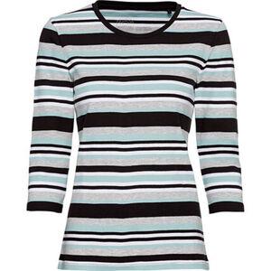 Adagio Shirt, Rundhals, Ringelmuster, Organic Baumwolle, für Damen